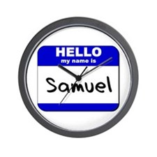hello my name is samuel  Wall Clock
