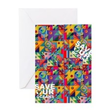 save our oceans flip flop Greeting Card