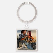 Heroes and Hearts book cover Square Keychain