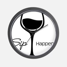 Sip Happens Wall Clock