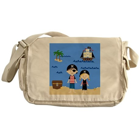Pirate Kids Shower Curtain Messenger Bag