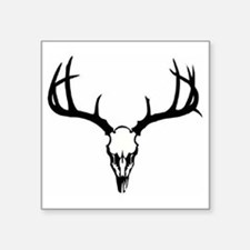 "Deer Head Square Sticker 3"" x 3"""