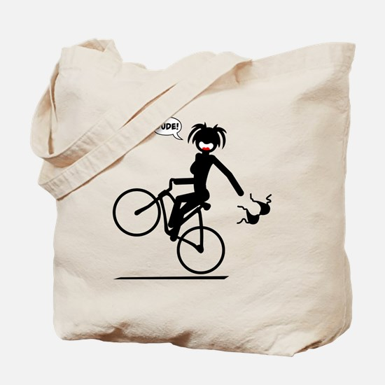BIKE MALFUNCTIONS black image Tote Bag