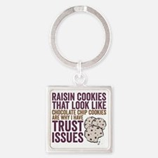 Cookies Square Keychain