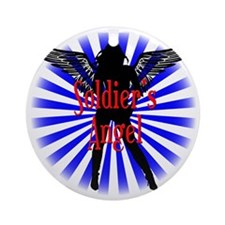 Soldier Angel B Round Ornament