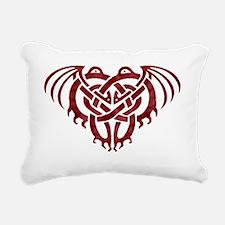 Cthulhu Knot (Red) Rectangular Canvas Pillow