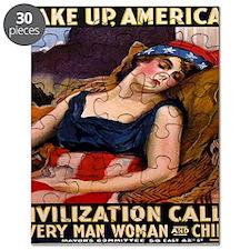 Vintage Wake up America War Puzzle