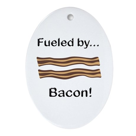Fueled by Bacon Ornament (Oval)