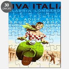 Vintage Viva Italia Poster Puzzle