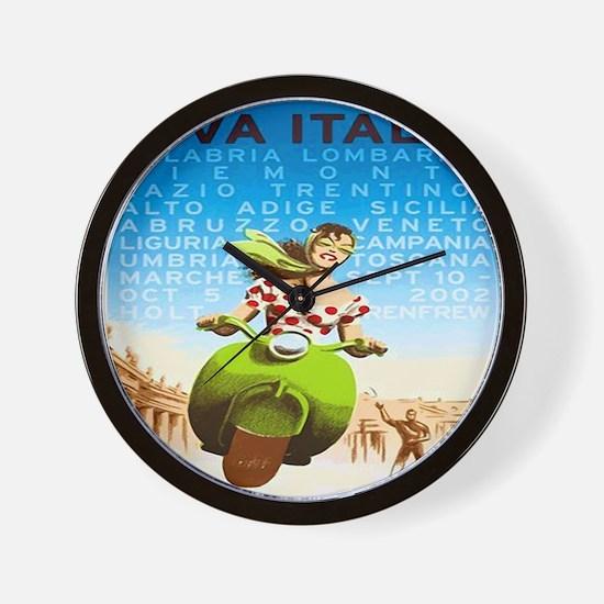 Vintage Viva Italia Poster Wall Clock