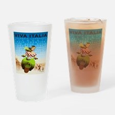 Vintage Viva Italia Poster Drinking Glass