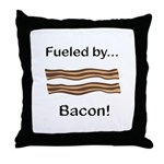 Fueled by Bacon Throw Pillow