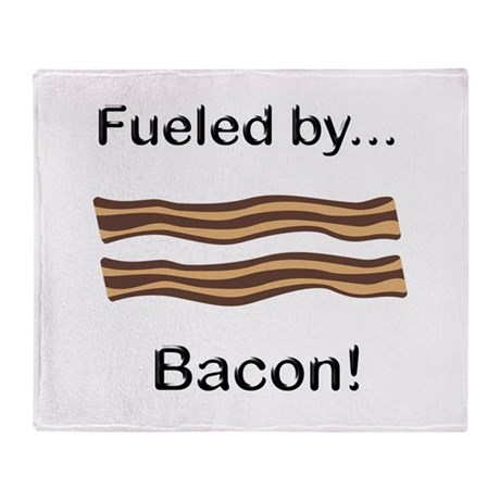 Fueled by Bacon Throw Blanket