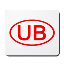 UB Oval (Red) Mousepad