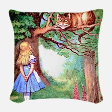 ALICE_12_SQ Woven Throw Pillow
