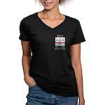 Bus Driver Women's V-Neck Dark T-Shirt
