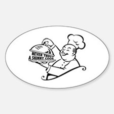 Skinny Cook Oval Decal