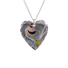 Common Flicker Necklace Heart Charm