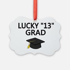 LUCKY 13 Grad-black Ornament