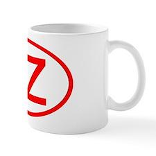 TZ Oval (Red) Mug