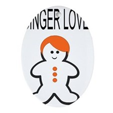 Ginger Love Large Oval Ornament