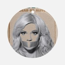 Wanted Dead or Alive - Molly Round Ornament