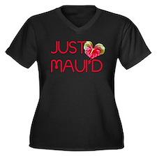 Just Maui'd Women's Plus Size V-Neck Dark T-Shirt