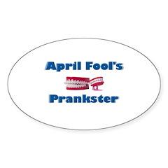 April Fool's Prankster Oval Decal