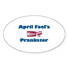 April Fool's Prankster Oval Decal