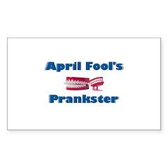 April Fool's Prankster Rectangle Decal