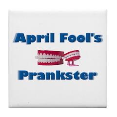 April Fool's Prankster Tile Coaster