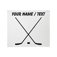 Custom Hockey Sticks Throw Blanket
