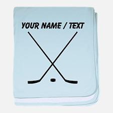Custom Hockey Sticks baby blanket