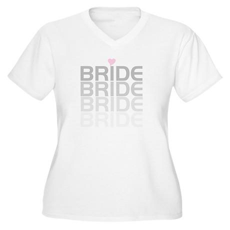 Bride Fade Women's Plus Size V-Neck T-Shirt