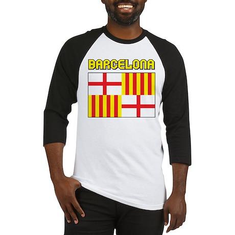 Barcelona Flag Baseball Jersey