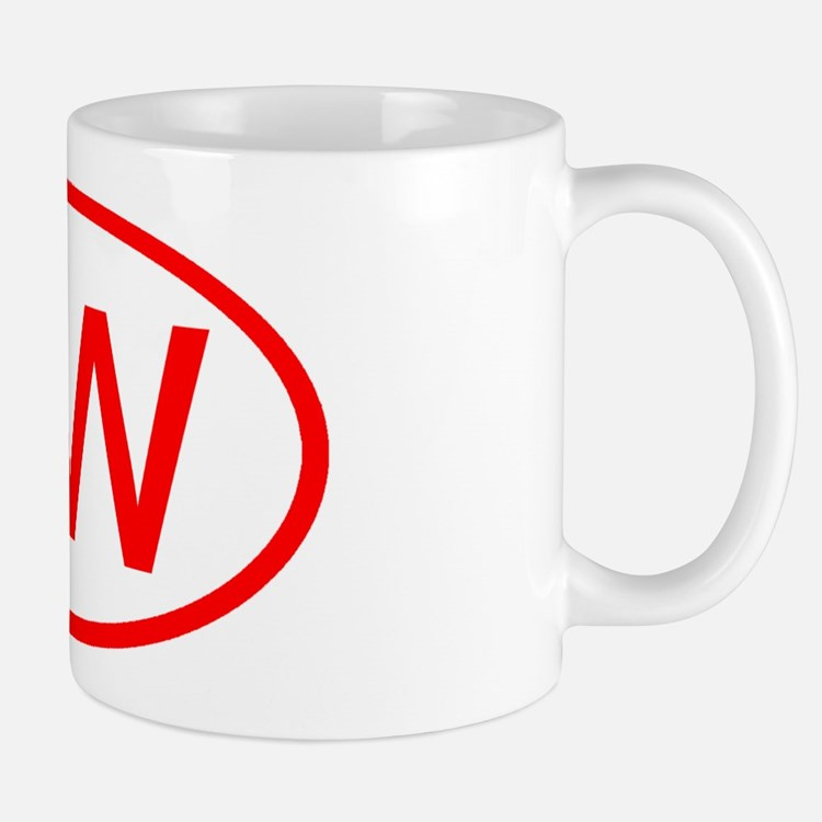 TW Oval (Red) Mug