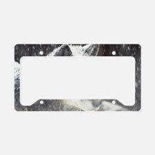 snowy face License Plate Holder