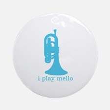I Play Mello Ornament (Round)