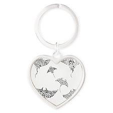 manta rays Heart Keychain