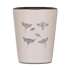 manta rays Shot Glass