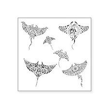 "manta rays Square Sticker 3"" x 3"""