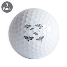 manta rays Golf Ball