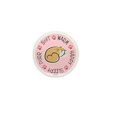 Soft Kitty Mini Button