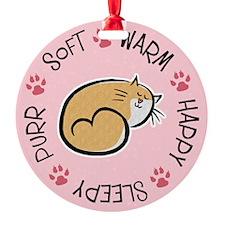 Soft Kitty Ornament
