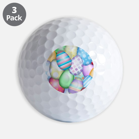 Decorated Eggs Golf Balls