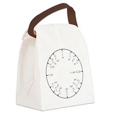 Math Clock (trig v2)(L) Canvas Lunch Bag