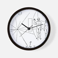 Pioneer Plaque Black Wall Clock