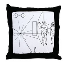 Pioneer Plaque Black Throw Pillow