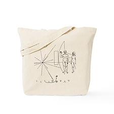Pioneer Plaque Black Tote Bag
