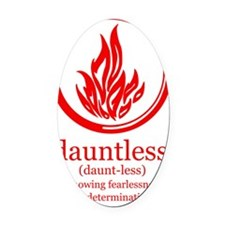 dauntless symbol and meaning Oval Car Magnet